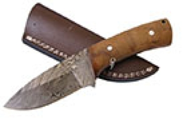 Damascus Hunting knife 7""